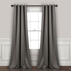Gray 95 x 52 In. Insulated Grommet Blackout Curtain Panel Set