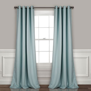 Blue 84 x 52 In. Insulated Grommet Blackout Curtain Panel Set