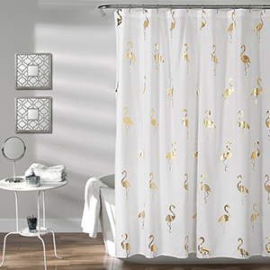 Flamingo Gold 72 In. Shower Curtain