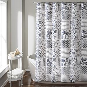 Monique Blue 72 In. Shower Curtain