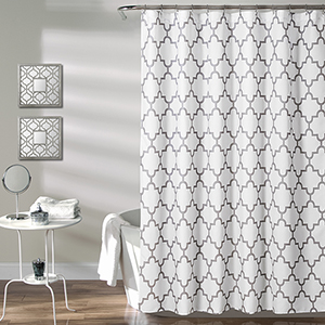 Bellagio Gray 72 In. Shower Curtain