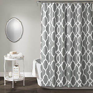 Connor Geo Gray 72 In. Shower Curtain