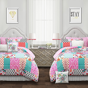 Brookdale Patchwork Multicolor Twin XL Five-Piece Comforter Set