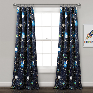 Universe Navy 84 x 52 In. Room Darkening Curtain Panel Set