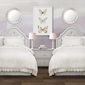 Reyna White Twin XL Two-Piece Comforter Set