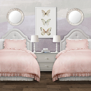 Reyna Blush Twin XL Two-Piece Comforter Set