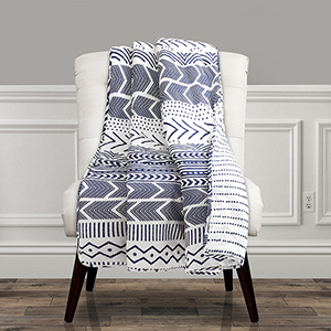 Hygge Geo Navy and White Throw