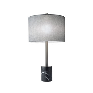 Blythe Brushed Steel One-Light Table Lamp