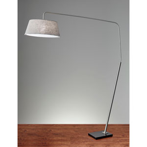 Ludlow Brushed Steel One-Light Arc Lamp