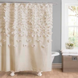 Lucia Ivory Shower Curtain