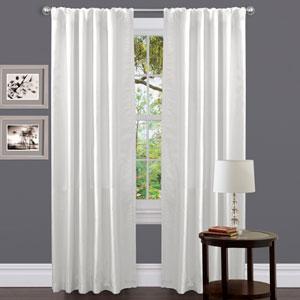 Venetian White Window Curtain Panel