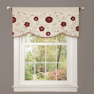 Royal Embrace Red Valance