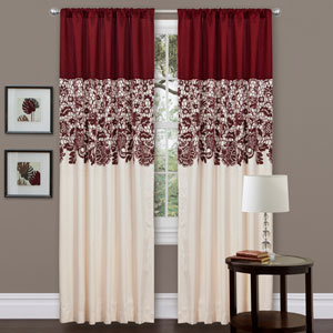 Estate Garden Red Window Curtain Panel