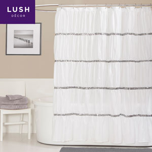 Twinkle White Single Shower Curtain 72 x 72