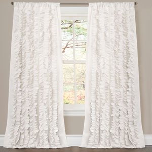 Belle White 84 x 54 In. Window Panels