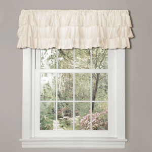 Belle Ivory 18-Inch Three Layer Valance