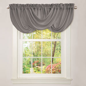 Lucia Gray 18-Inch x 42-Inch Valance