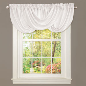 Lucia White 18-Inch x 42-Inch Valance