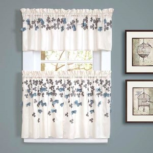 Flower Drops Ivory 15 x 58-Inch Kitchen Valance