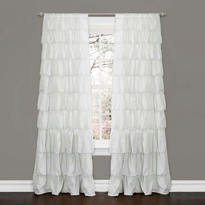 Ruffle White 84 x 50-Inch Window Curtain Single Panel