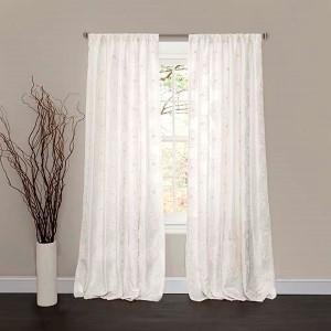Samantha White 84 x 50-Inch Window Curtain Single Panel