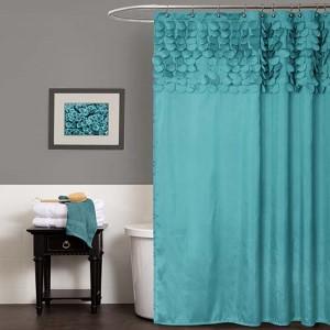 Lillian Turquoise Shower Curtain