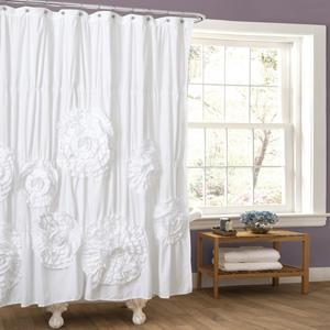 Serena White Shower Curtain