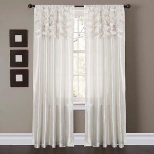 Circle Dream White 84 x 54-Inch Window Curtain Panel Pair