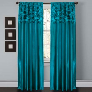 Circle Dream Turquoise 84 x 54-Inch Window Curtain Panel Pair