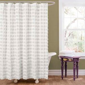 Emma White Shower Curtain