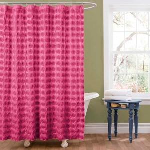 Emma Pink Shower Curtain
