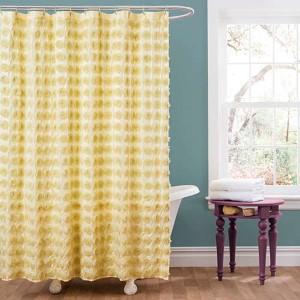 Emma Yellow Shower Curtain
