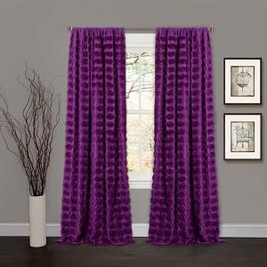 Emma Purple 84 x 50-Inch Window Curtain Single Panel