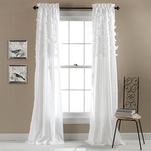Avery White 84 x 54-Inch Window Curtain Panel Pair