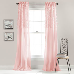 Avery Pink 84 x 54-Inch Window Curtain Panel Pair