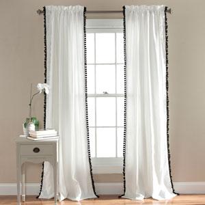 Pom Pom Black 84 x 50-Inch Curtain Single Panel