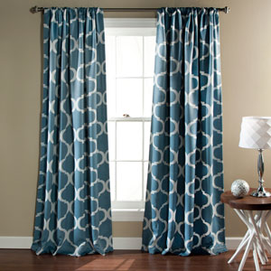 Geo Blue 84 x 52-Inch Blackout Curtain Panel Pair