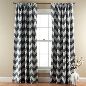 Chevron Gray 84 x 52-Inch Blackout Window Curtain Panel Pair
