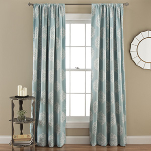 Sophie Blue 84 x 52-Inch Blackout Window Panel Pair