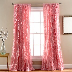 Belle Pink 84 X 54 Inch Window Panel