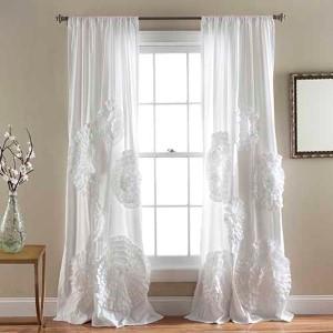 Serena White 84 x 50-Inch Curtain Single Panel