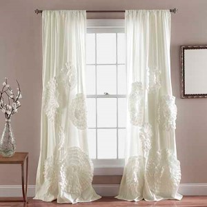 Serena Ivory 84 x 50-Inch Curtain Single Panel