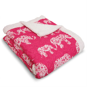 Elephant Parade Pink Throw