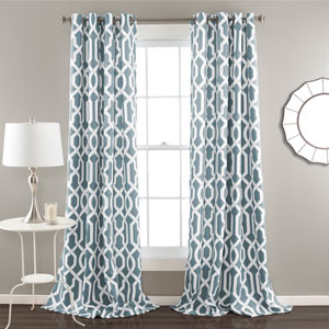 Edward Blue 84 x 52-Inch Curtain Panel Pair