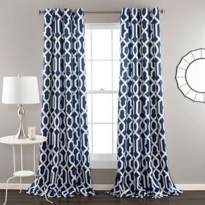 Edward Navy 84 x 52-Inch Curtain Panel Pair
