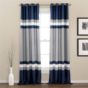 Alexander Navy 84 x 52-Inch Curtain Panel Pair