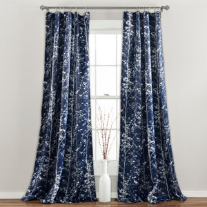 Forest Navy 84 x 52-Inch Curtain Panel Pair