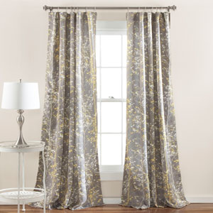Forest Gray and Yellow 84 x 52-Inch Curtain Panel Pair