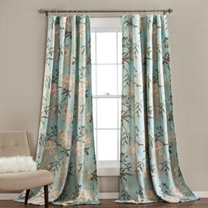 Botanical Garden Blue 84 x 52-Inch Curtain Panel Pair