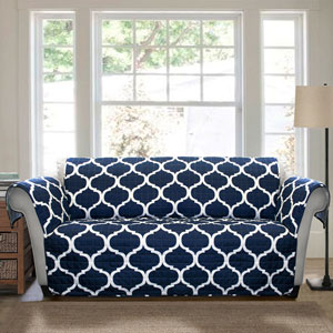 Geo Navy Sofa Furniture Protector